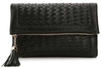 Urban Expressions Woven Tassel Flap Clutch $55 thestylecure.com