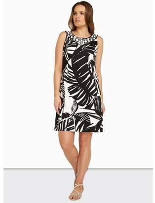 Dorothy Perkins Womens *Roman Originals Black Printed Shift Dress