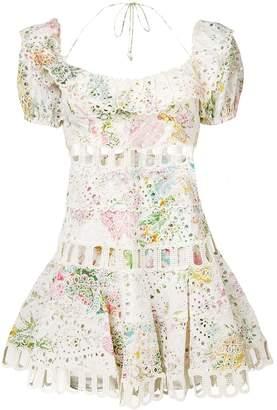 Zimmermann embroidered floral print dress