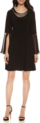 Msk MSK 3/4 Bell Sleeve Shift Dress $72 thestylecure.com