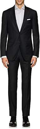 Isaia Men's Sanita Aquaspider Wool Two-Button Suit - Charcoal