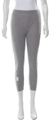 Thom Browne Rib-Knit Leggings Grey Rib-Knit Leggings