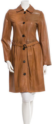 Burberry Leather Trench Coat $785 thestylecure.com