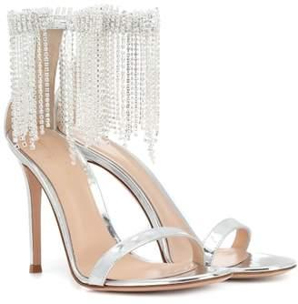 Gianvito Rossi Jasmine 105 metallic leather sandals