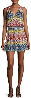 Missoni Mare Pizzo Onda Multicolor V-Neck Coverup Dress, Multicolor $995 thestylecure.com