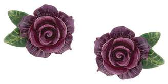 Dolce & Gabbana rose clip-on earrings