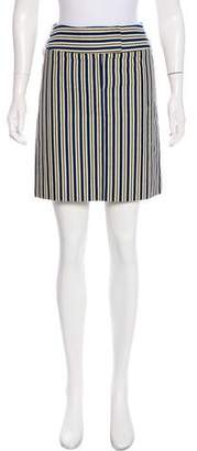 Cacharel Striped Mini Skirt