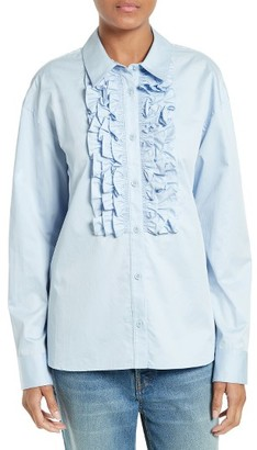 Women's Tibi Tuxedo Shirt $365 thestylecure.com