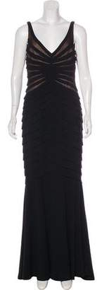 Carmen Marc Valvo Tiered Evening Dress