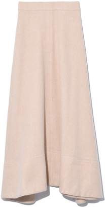 Co Flannel Midi Skirt in Ivory