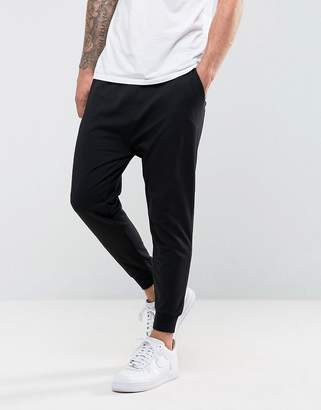 Asos Design DESIGN drop crotch joggers in lightweight jersey