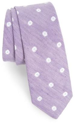 Men's Nordstrom Men's Shop Hogard Floral Linen & Silk Skinny Tie $39.50 thestylecure.com