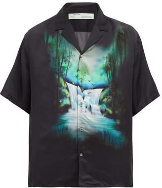 Off-White Off White Waterfall Print Short Sleeved Shirt - Mens - Black Multi