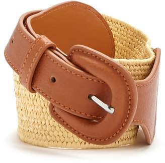 Forever 21 Faux Leather & Woven Waist Belt