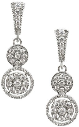 Judith Ripka Sterling Diamonique Dangle E arrings