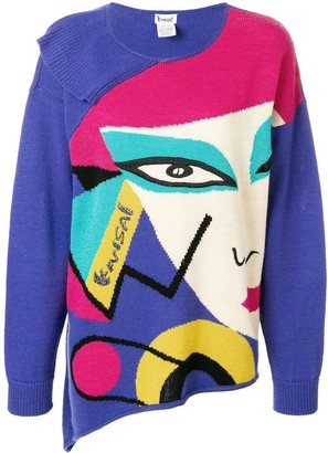 fd69865ad3 Face Print Sweater - ShopStyle