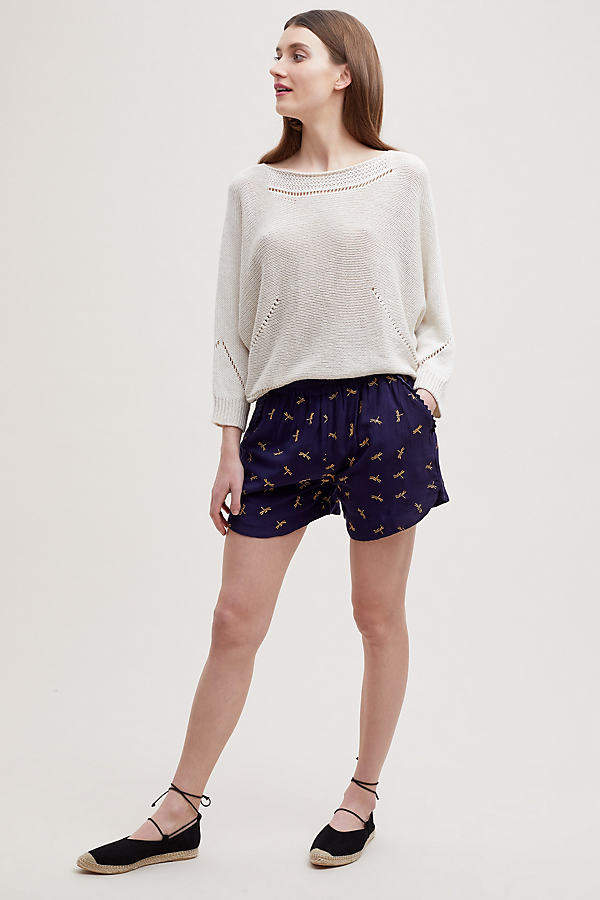 Seen Worn Kept Lola Bestickte Shorts - Navy