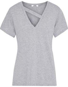 LnA Simi Cutout Cotton And Modal-Blend Jersey T-Shirt