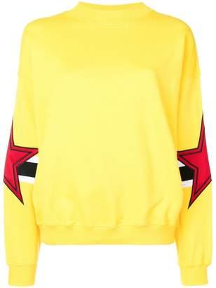 MSGM star patch sweatshirt
