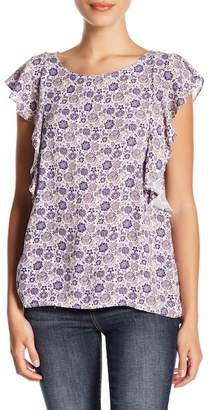 14th & Union Sleeveless Cascade Print Top (Petite Size Available)