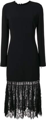 Stella McCartney pleated lace hem dress