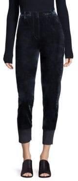 3.1 Phillip Lim Cropped Straight Leg Velvet Pants