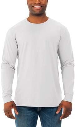 Fruit of the Loom Men's Soft Long Sleeve Lightweight Crew T Shirt, 2 Pack