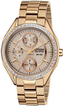 JCPenney DRIVE FROM CITIZEN ECO-DRIVE Drive from Citizen Eco-Drive Gold-Tone Watch FD1063-57X