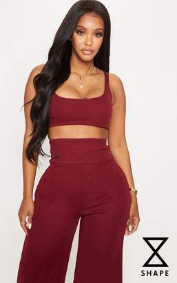 PrettyLittleThing Shape Camel Bandage Scoop Neck Crop Top