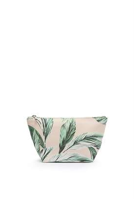 Country Road Leaf Print Tri Cosmetic Case