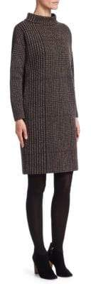 Akris Punto Houndstooth Jacquard Mockneck Dress