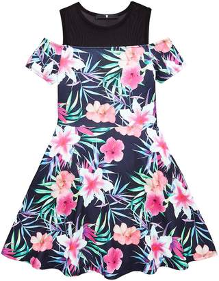 Very Girls Black Floral Dress