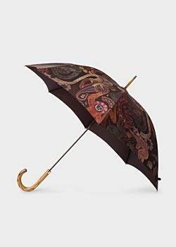 'Monkey' Print Walker Umbrella With Wooden Handle