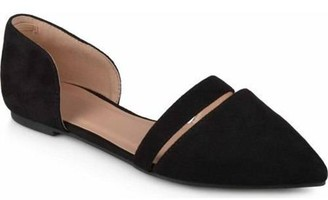 Co Brinley Womens Pointed Toe Faux Suede Flats