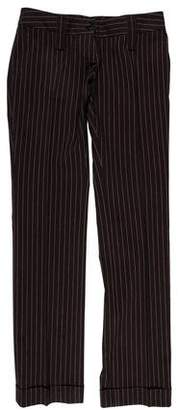 Dolce & Gabbana Low-Rise Striped Pants