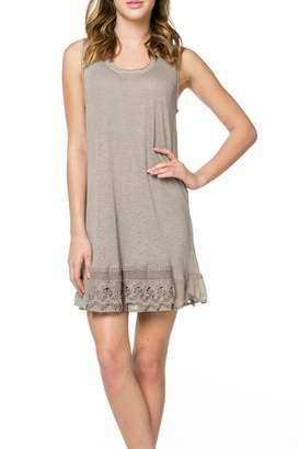 Monoreno Mur Crochet Hem Dress