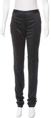 Alexander Wang Metallic Mid-Rise Pants