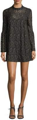 BCBGeneration Women's Lace Bell Sleeve Mini Dress