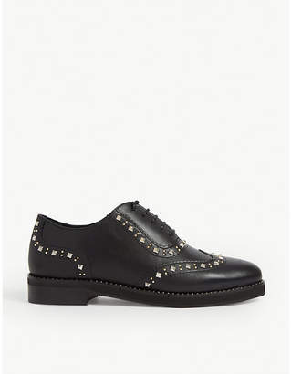 Claudie Pierlot Alexis studded leather Derby shoes
