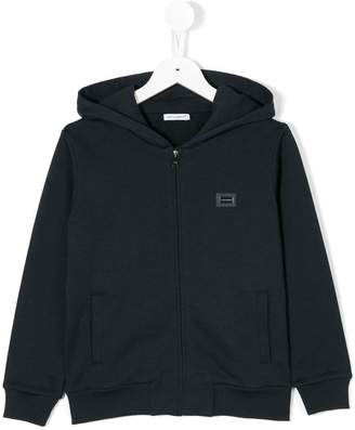 Dolce & Gabbana chest patch zipped hoodie