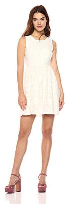 Wild Meadow Women's Lace Fit and Flare Dress with Back Key Hole XS