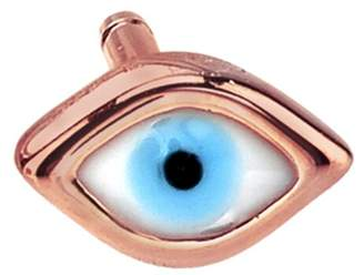 04bd4701d at Ylang 23 · Sydney Evan Enamel Evil Eye Single Stud Earring - Rose Gold