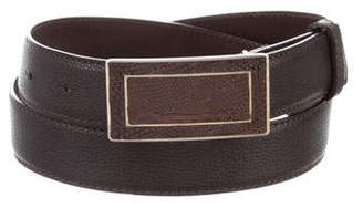 Calvin Klein Collection Embossed Leather Belt