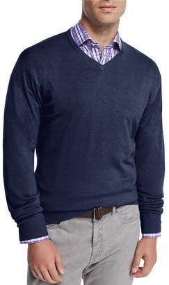 Peter Millar Cashmere-Blend V-Neck Sweater $155 thestylecure.com