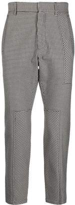 Just Cavalli houndstooth print tailored trousers