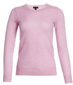Saks Fifth Avenue Women's COLLECTION Featherweight Cashmere Sweater - Light Lilac - Size XL