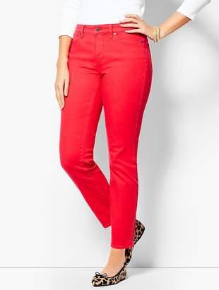 Talbots Garment-Dyed Slim Ankle Jean - Curvy Fit/Bright Apple