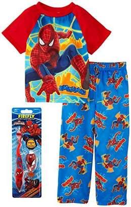 Marvel Spiderman Little Boys Pajama and Toothbrush Gift Set