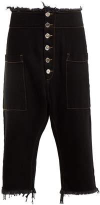 Marques Almeida MARQUES'ALMEIDA Dropped-crotch raw-edge jeans