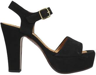 Chie Mihara Xarco Black Suede Sandals